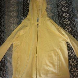 Yellow zip up